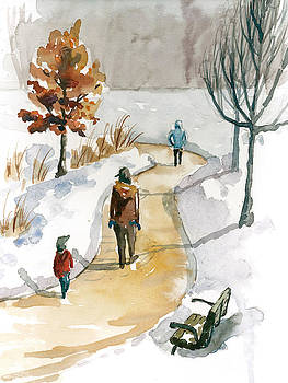 People Enjoying Winter by Christine Camp