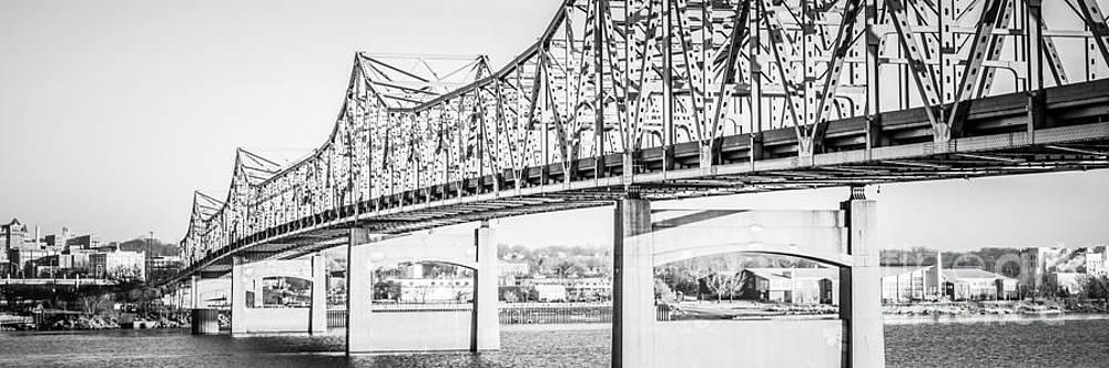Paul Velgos - Peoria Bridge Panoramic Black and White Picture