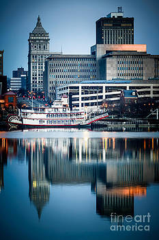 Paul Velgos - Peoria Illinois Cityscape and Riverboat