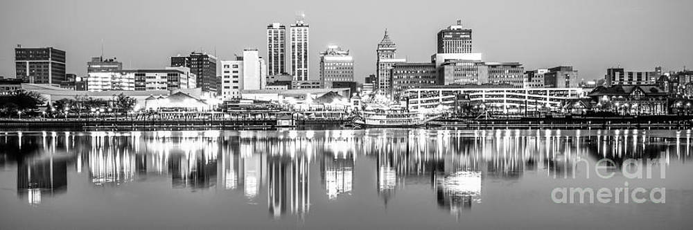 Paul Velgos - Peoria Skyline Panorama Black and White Photo