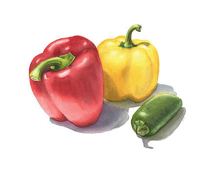 Peppers by Elizabeth R Smith