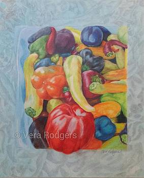 Peppers For Sale by Vera Rodgers