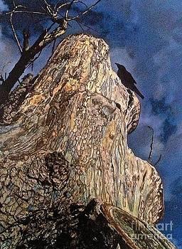 Perched Black Bird by Jennifer Reitmeyer