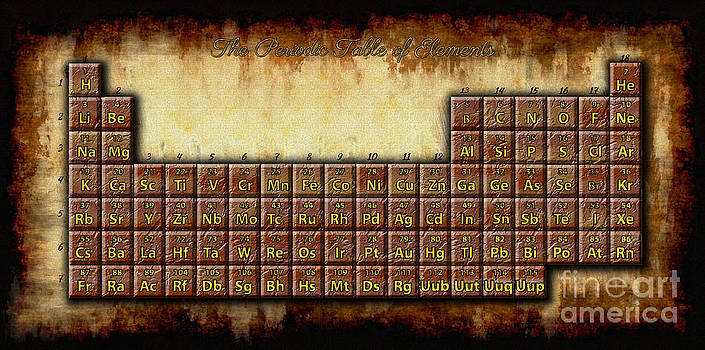 Periodic Table of Elements by Skye Ryan-Evans