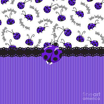 Periwinkle Ladybugs by Debra  Miller