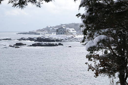 Perkins Cove in Winter by Paul Lavoie