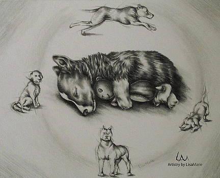 Pet Portrait - Sweet Dreams by Lisa Marie Szkolnik