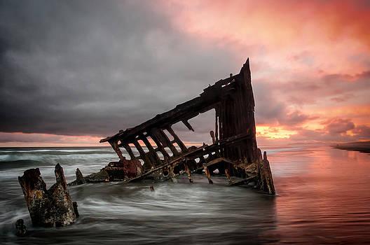 Peter Iredale Sunset by Brian Bonham