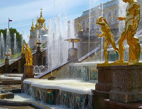 Peterhof Palace Fountains by David Nichols
