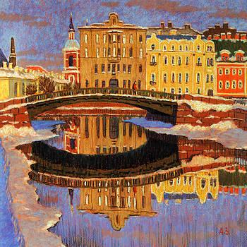 Petersburg. Engineering bridge by Aleksey Zuev