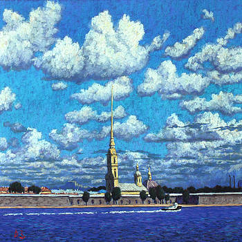Petersburg. Peter and Paul Fortress by Aleksey Zuev