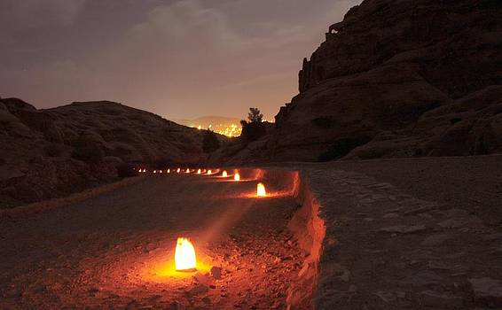 Petra by Candlelight by Linda Russell