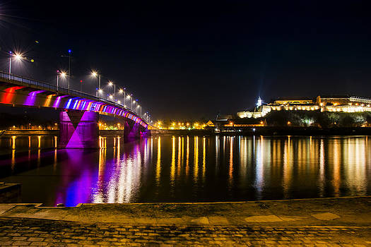 Newnow Photography By Vera Cepic - Petrovaradin fortress with rainbow bridge in the night
