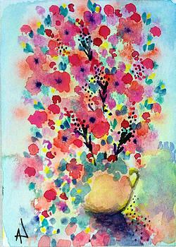 Patricia Lazaro - Petunias and Dahlias Pottery