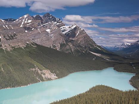 Peyto lake and Caldron peak by Richard Berry
