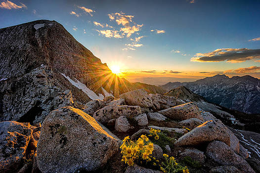 Pfeifferhorn Sunset by Kevin Rowe