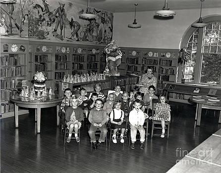 California Views Mr Pat Hathaway Archives - Pacific Grove library with Nina Post. circa 1955