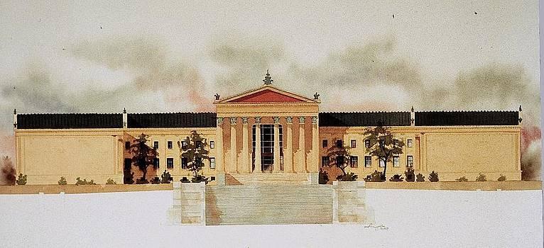 Philadelphia Art Museum by William Renzulli
