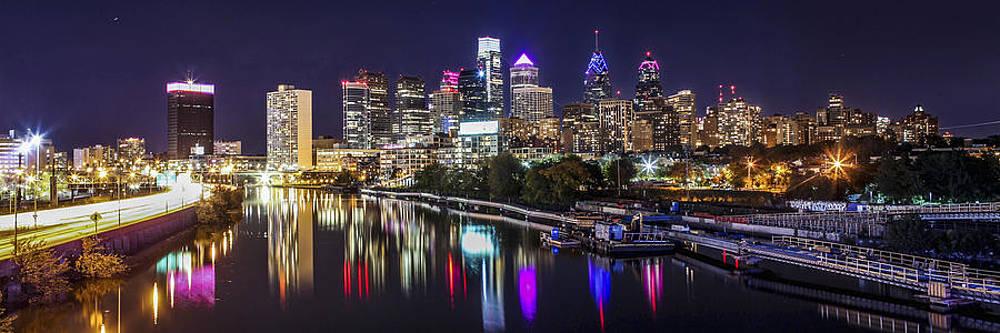 Philadelphia Skyline at Night by Stacey Granger