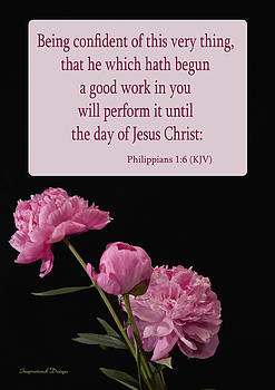 Philippians 1 6 by Inspirational  Designs