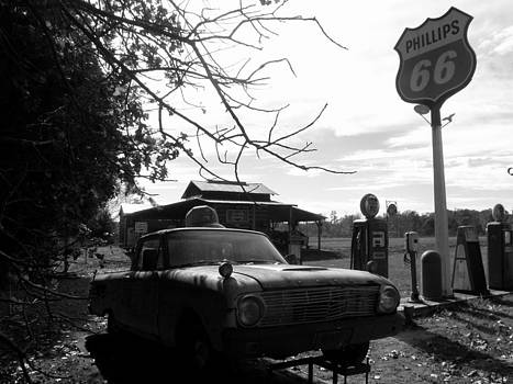Phillips 66 Ranchero and Pumps by Kim Galluzzo Wozniak
