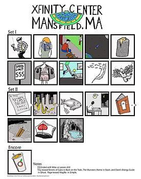 Phish 7/1/14 Mansfield Illustrated Setlist by Josean Rivera