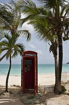 Phone in Antigua by Pier Giorgio Mariani