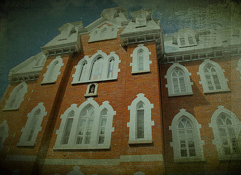 Laura Carter - Photograph of Old Red Brick Building Circa 1878
