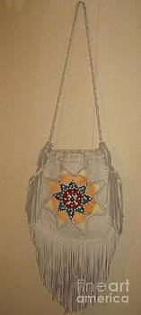 Pi Squared Leather Textile Art Purse by Lois Picasso