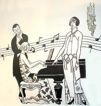 Piano Time  by Melinda Saminski
