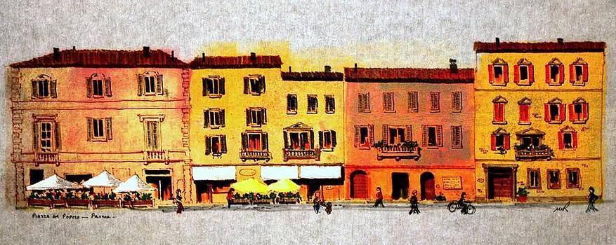 Piazza Del Popolo by William Renzulli