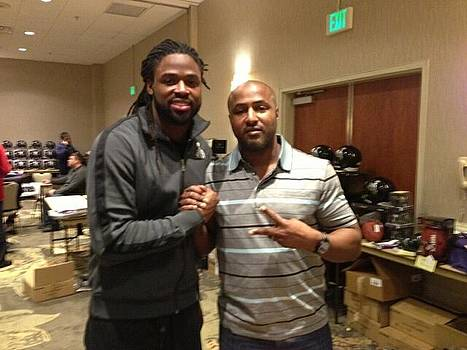 Pic with Torrey Smith by Lynde Washington