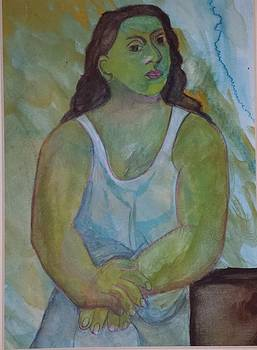 Picasco Seated Woman by Dalene Turner