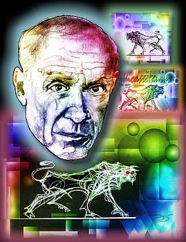 Picasso Portrait by Dean Gleisberg