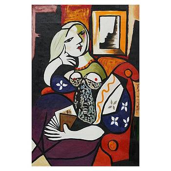 Picasso Women With Book reprint by J Nance