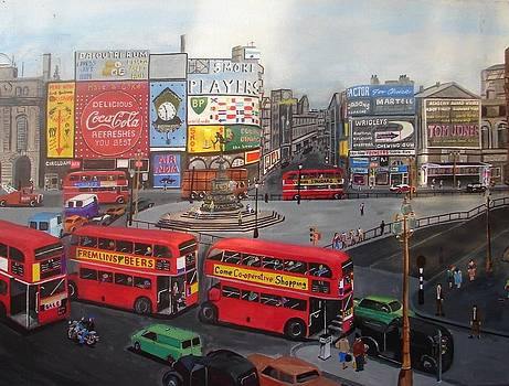 Piccadilly Circus by Harold Hopkinson