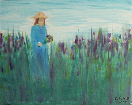Picking Flowers by Tony  DeMerchant