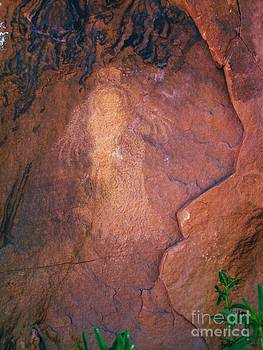 Pictograph of Mother and Child by Annie Gibbons