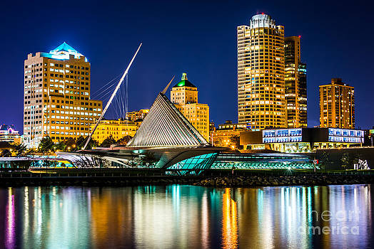 Picture of Milwaukee Skyline at Night by Paul Velgos
