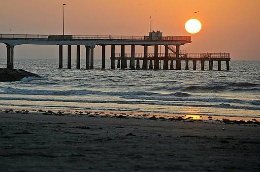 Pier at Dawn by John Collins