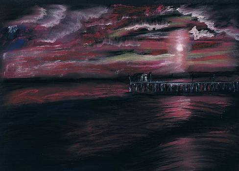 Pier at Midnight by Tonya Butcher