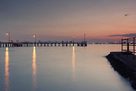 Pier Landscape by Sun Wu