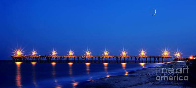 Dan Friend - Pier on ocean near Southport NC panoramic