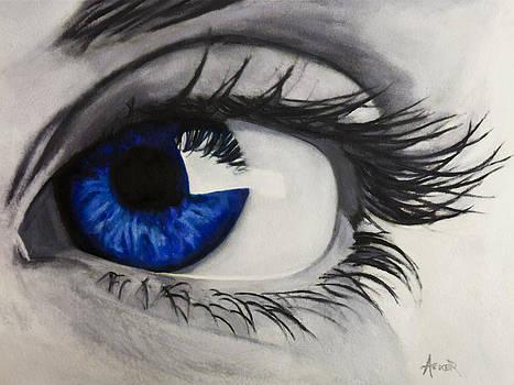 Piercing Blue by Aaron Acker