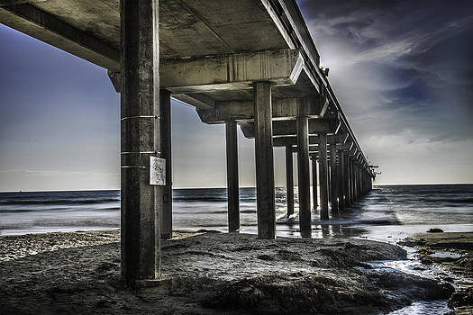 Piers At La Jolla California. by Israel Marino