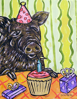 Pig at the Birthday Party by Jay  Schmetz