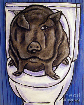 Pig in the Bathroom by Jay  Schmetz