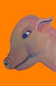 Cherie Sexsmith - Pig on Orange