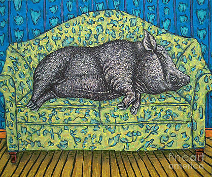 Pig Reclining Nude by Jay  Schmetz