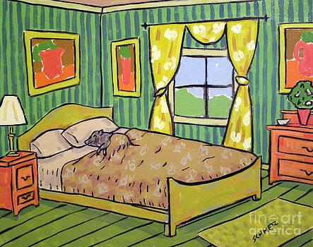 Pig Sleeping by Jay  Schmetz